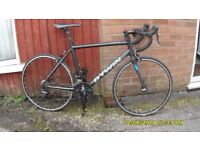 B/TWIN TRIBAN 500 RACING BIKE 27 SPEED LIGHTWEIGHT (MED) 51cm ALLOY FRAME/CARBON FORKS EXC COND