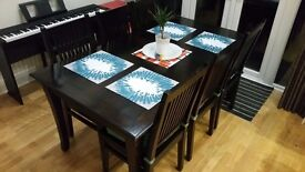M&S High Quality Dinning Table + 6 Matching chairs and 6 Cushions