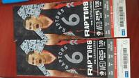 2 front row Raptors to tonight's game November 25 2015