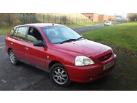 KIA RIO 1.3 petrol 2004 m.o.t march 45k miles