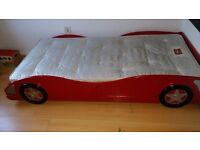 Stunning Bright Red Racing Car Solid Wooden Bed