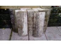Concrete copings 9 inches x 24 inches = 25 ft approx