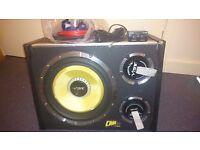 "Vibe Audio CBR12 CBR 12 Evo 12"" inch Active Amplified Subwoofer Sub Bass Box inc. remote control"