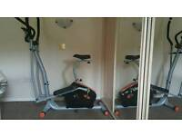 V-fit cross trainer and bicycle combined