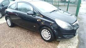 Corsa d 1.0 black with mot low mileage perfect city/beginner car