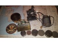 Vintage 1930s Pathescope Kid Projector 9.5 mm with loads of old fascinating film
