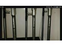 3x Greys Platinum 50s 12ft 3lb TC