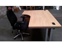Large Corner Office Desk with Chair (10 avaiable)