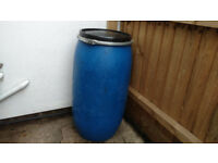 60 Litre Plastic Barrel Drum Container with lid and metal clip