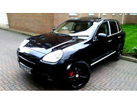 SUPERB BLACK PORSCHE CAYENNE 4.5 TURBO TITRONIC S AUTOMATIC AWD BEIGE LEATHER ALLOYS RED CALIPERS PX