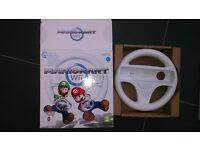 Wii Steering Wheel. Nintendo Wii boxed and in good condition.