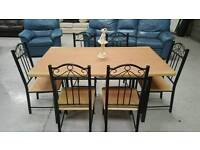 Dinning table and 6 chairs can arrange delivery