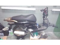 Honda SH 125 I Scooter (2008) damaged front. For parts or repair.