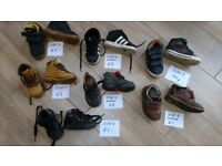 Kids boys high tops and boots, sizes 4, 5, 6, 7