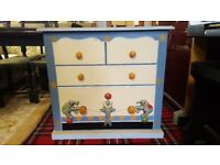 Vintage Childrens Drawers With Decorative 3D Clowns & Seal