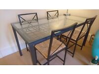 Glass Dining Table & 4 Chairs - IKEA Granas - £60 (£200 New)