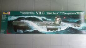 """Revell 1:72 VII C German Submarine """"Wolf Pack"""" model kit - Perfect, ready for making."""
