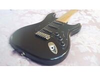Vintage Aria Pro II electric guitar Fender Strat-style Mad Axe made in Korea