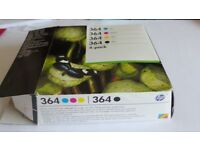 HP 364 Colour and Black ink Cartridge un used