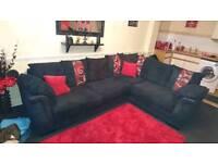 Black SCS corner sofa