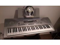 Casio CTK-691 Keyboard + Stand + Brand New Headphones + Expression/Sustain Pedal