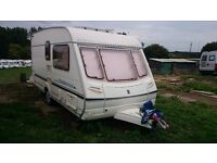 2 Berth Caravan 2001 Abbey Aventura 315 Ready for use with Alko Hitch ,New motormover and Extras