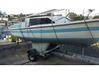 18ft fiberglass sailing boat