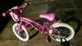 Girls 16inch bike with stabilisers