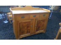 WOW Stunning large vintage solid pine sideboard/kitchen unit