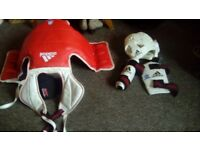 Kickboxing and boxing protective gear