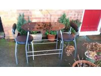 Two Seater Dining Table & 2 Chairs