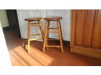 Wooden bar or kitchen stools.