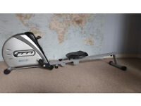 Rowing machine with LCD