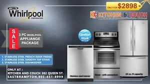 Home Appliances Sale -- 3 PC PACKAGE DEALS - FRIDGE, STOVE AND DISHWASHER : ONLY FOR -$2898  (AD 449)