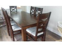 Dining Table and 6 Chairs originally from Oak Furniture Land