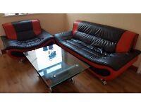 Sofa, armchair, coffe table