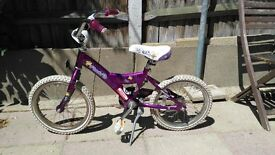 Giant Girls Bike 16 inch wheels has footbrake and stand