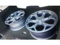"""4 x 18"""" alloys Renault Vauxhall Peugeot ford"""