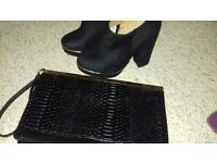 Buffalo party shoes size 3 and bag