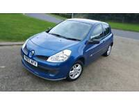 2007 RENAULT CLIO LOW MILEAGE 85K FSH STUNNING BLUE ALLOYS FULL YEAR MOT