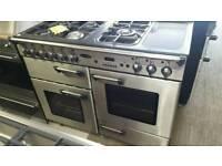 110cm reconditioned range master lpg dual fuel range cooker