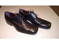 New Black Leather Italian Shoes - Good Quality Size 43 (9 / 9.5 )