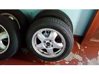 Wheel and tyre for MINI COOPER