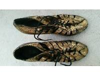 Gold size 5 shoes
