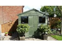 Wood Garden Shed, 8' x 6', with 2 glazed windows, newly felted roof