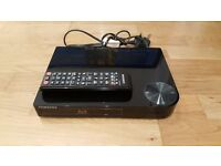 Samsung compact Bluray player (USB port and comes with remote)