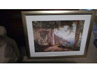 Amalfi coast framed picture.