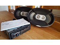 "Pioneer head unit & Infinity ""reference"" 6x9 speakers."
