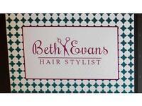Beth Evans hair stylist