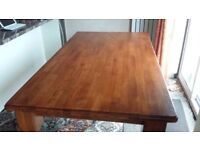 Reduced - Solid wood Dining table (180 x 100) & 4 chairs and 2 carvers. Also matchind dresser.